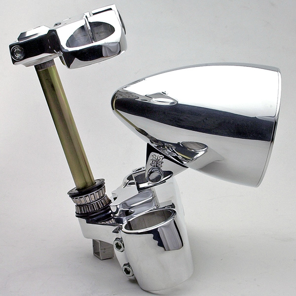 headwinds gloss black bullet rocket headlight mount. Black Bedroom Furniture Sets. Home Design Ideas